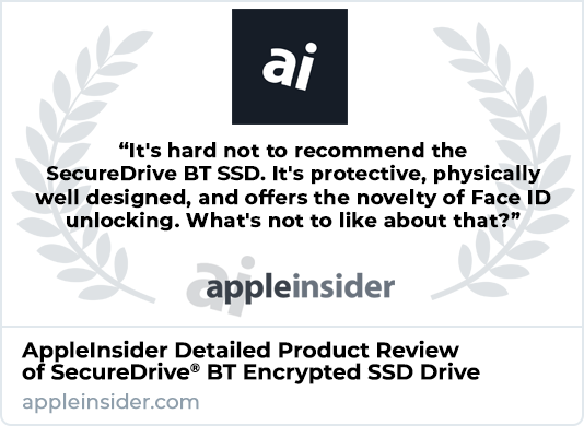 AppleInsider Product Review of SecureDrive BT Encrypted SSD Drive