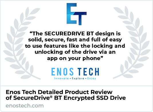 Enos Tech SecureDrive BT SSD Drive Review