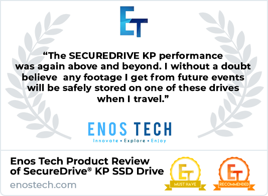 Enos Tech Product Review of SecureDrive KP Encrypted SSD Drive