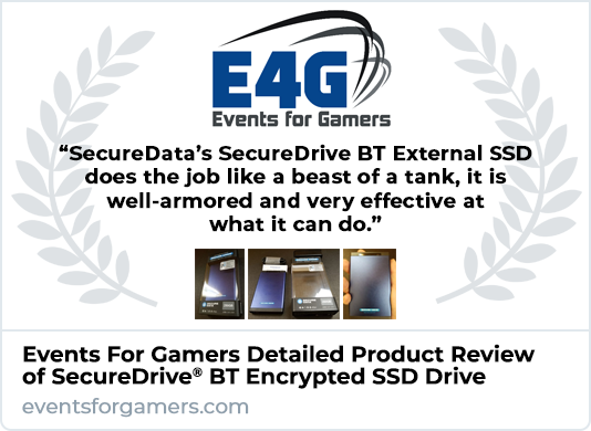 Events for Gamers SecureDrive BT SSD Drive Review