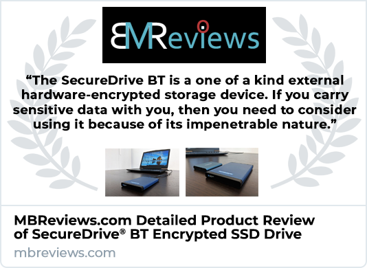 MBReviews SecureDrive BT SSD External Drive Review