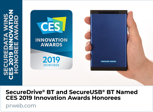 SecureDrive® BT and SecureUSB® BT Named CES 2019 Innovation Awards Honorees