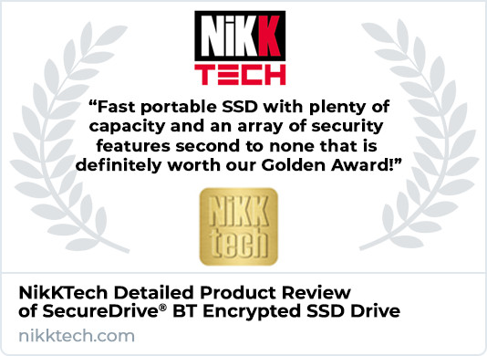 NikKTech Product Review of SecureDrive BT