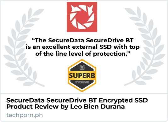 SecureData SecureDrive BT SSD Product Review