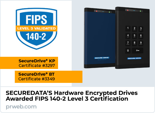 SecureData SecureDrive FIPS Validated