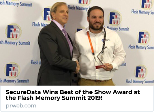 SecureData Wins Best of the Show Award at Flash Memory Summit 2019