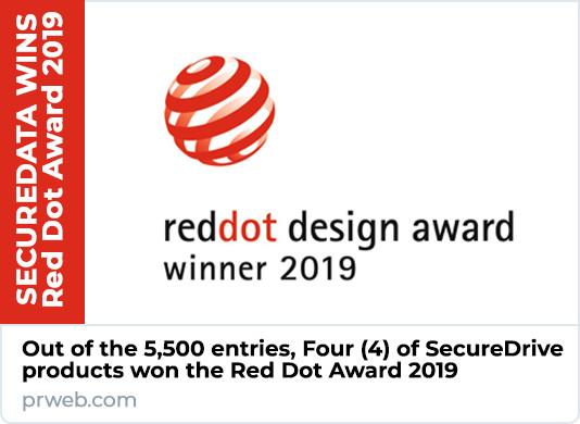 SecureData Wins Red Dot Award 2019