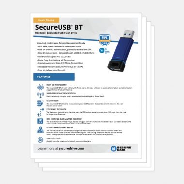 SecureUSB BT Bluetooth Encrypted Flash Drive Datasheet