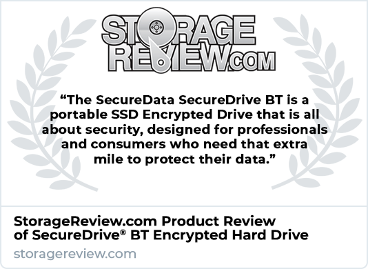 StorageReview.com Product Review of SecureDrive BT Encrypted Hard Drive