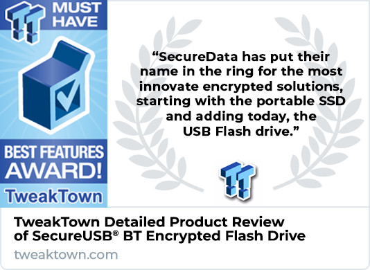 Tweaktown SecureUSB BT Flash Drive Product Review