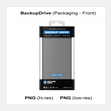 BackupDrive Packaging - Front