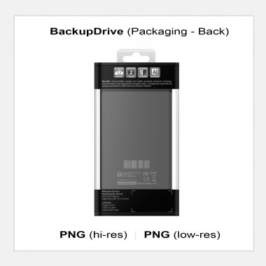 BackupDrive - Packaging Back