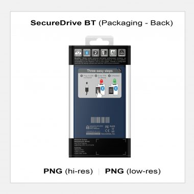 SecureDrive BT - Packaging Back