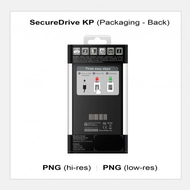 SecureDrive KP - Packaging Back