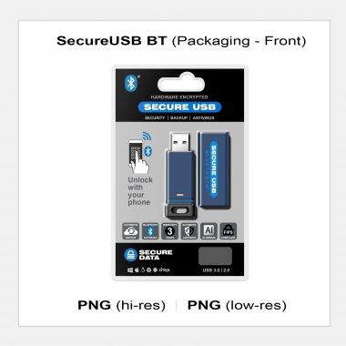SecureUSB BT - Packaging Front