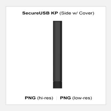 SecureUSB KP - Side w/ Cover