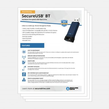 SecureDrive BT Bluetooth Encrypted Flash Drive