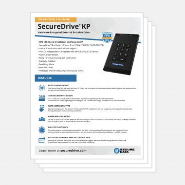 SecureDrive KP Keypad Encrypted Hard Drive