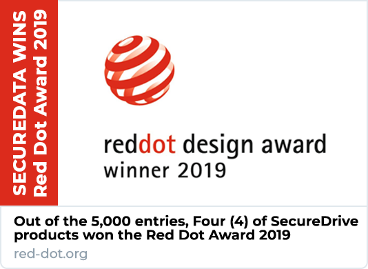 SecureData Wins Red Dot Award 2019