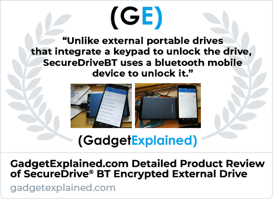 Gadget Explained SecureDrive BT Encrypted Hard Drive Product Review