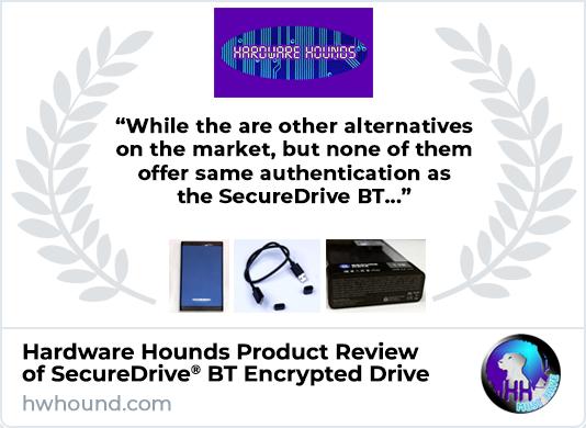 Hardware Hounds Reviews SecureDrive BT Encrypted External Drive