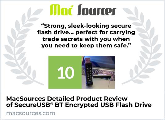 MacSources Reviews SecureUSB KP Encrypted Flash Drive