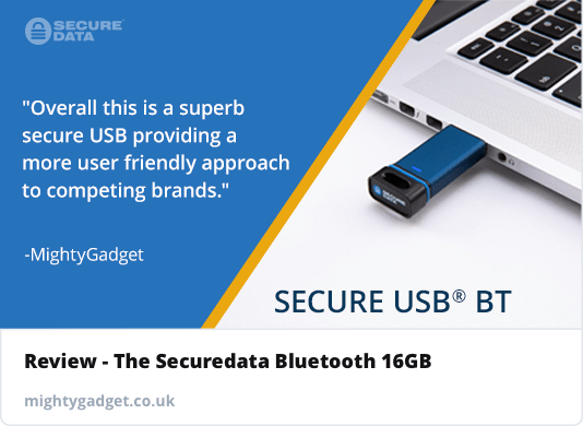 SecureDrive SecureUSB BT Hardware Encrypted USB Flash Drive Review – Bluetooth controlled FIPS 140-2 Level 3 USB