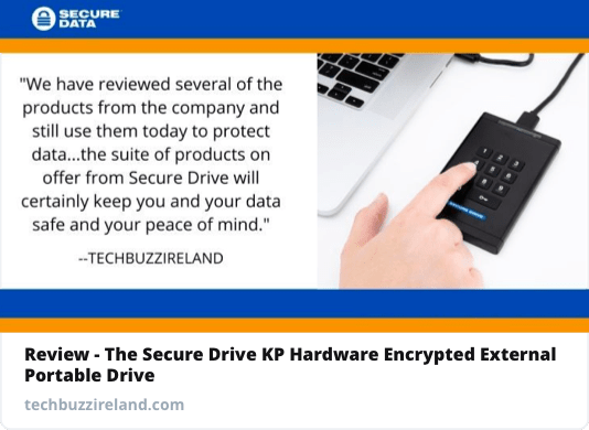 The Secure Drive KP Hardware Encrypted External Portable Drive