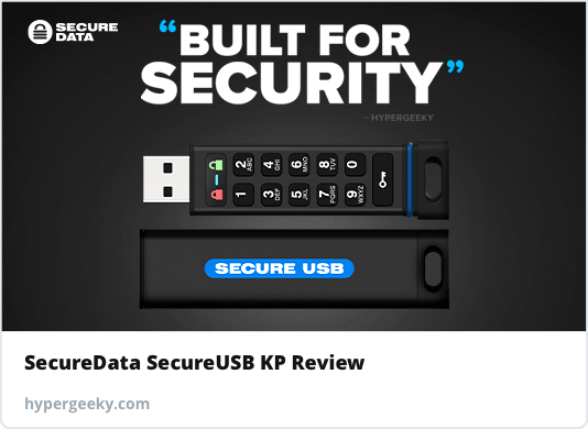 Coded — SecureData SecureUSB KP Review
